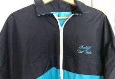 davidoff cool water Women's XXL Rain Coat Jacket Turquoise and Black longsleeve
