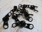 GENUINE YKK VISLON - No.10 Black Metal Zipper Slider - 1 Double Tab Zip Runner