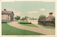 Stable Entrance and Drive, Normandy Farm, Gwynedd Valley PA Postcard