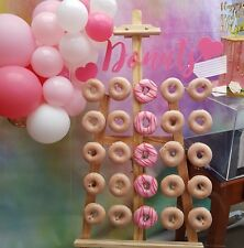BRAND NEW Donut Wall for sale. Holds 25/50 Donuts. Can custom make to any size.