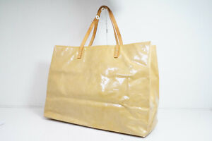 Auth Pre-owned Louis Vuitton Vernis Beige Reade Gm Shoulder Tote M91140 171996