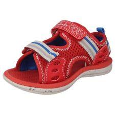 Scarpe Sandali rosso con chiusura a strappo per bambini dai 2 ai 16 anni