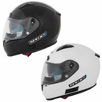 Spada Arc Full Face Motorcycle Motorbike Helmet Sun Visor ACU Gold Black White