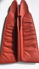 VX NOS Flame Orange Front Door Set Leather Trim inserts. SS HSV