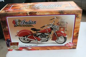 NEW GUILOY 1948 INDIAN CHIEF 348 MOTORCYCLE DIE-CAST MODEL KIT 1/6TH SCALE