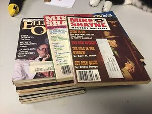 USED Ellery Queen Mystery Magazine Lot Of 19 + 2 Mike Shayne Books Mostly Good