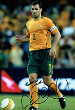 Lucas NEILL SIGNED Autograph 12x8 Photo AFTAL COA Australia Football Legend RARE