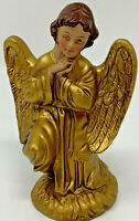 VINTAGE MADE IN ITALY GOLD ROBE WINGS KNEELING ANGEL NATIVITY 19-2631X