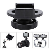 360°Swivel DSLR Camera Cold Shoe Adapter with 1/4 Screw for GoPro SJCAM XIAOYI