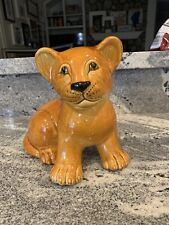 Vintage 70's Ceramic Lion Cub Made In Italy By Bellini For Joseph Magnin