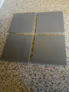 5mm Thick Light Grey Acrylic Coasters with protective bumpons free postage