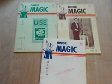 3 Issues Junior Magic Magazines vol 1