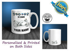 BMW K1200S Motorbike Personalised Ceramic Mug Gift (MB021)