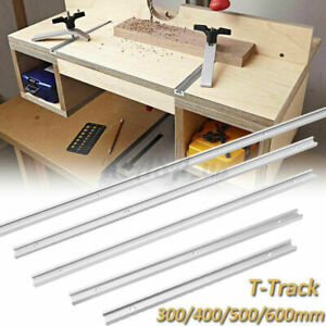 Aluminium 400mm 600-1220mm T-Track T-Slot Miter Jig Tools For Woodworking Router