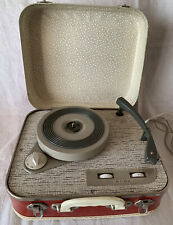 Vintage Alba Portable Suitcase Record Player