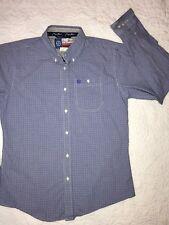 bee141f17 WRANGLER Boys GEORGE STRAIT Navy Western Rodeo Button Up Long Sleeve Shirt  XXL