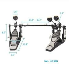 Double Bass Drum Pedal Kick Twin Dual Chain Drive Percussion
