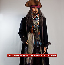 Life Size Jack Sparrow Statue Johnny Depp Prop Pirates Movie Display Style 1:1