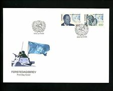 Postal History Norway FDC #1103-1104 UN United Nations 1995