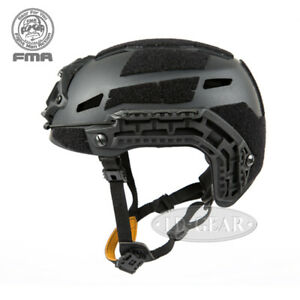 FMA Airsoft Caiman Helmet w/ NVG Shroud Rail Space Paintball Military Hunting