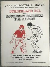 More details for sunderland v southern counties fa select charity match 1981