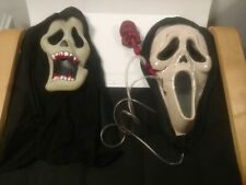 Vintage Set Of Halloween Masks With Hooded Cloak