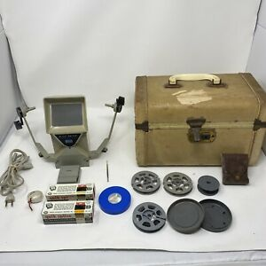 Vintage Sears 8mm Action Movie Editor And Viewer Film With Extras And Case