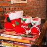 Christmas Xmas Flocking Red Boots Socks Candy Gift Bag For Kids Winter Decor SJ