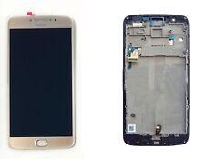 Motorola moto E4 Plus XT1770 Conjunto de Pantalla LCD Táctil Digitalizador con Marco De Oro