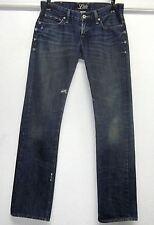 LUCKY BRAND RILEY SELVAGE JEAN (00/24) 30/33 STRAIGHT LEG BOYFRIEND BLUE JEANS