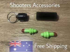 Shooting Ear Plugs & King Ring Case,pistol,Rifle,Shotgun,Ipsc,Hunting,sa#111