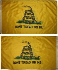 3x5 Gadsden Don't Tread On Me Yellow Snake Double Sided Flag 3'x5' Banner