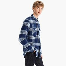 NWT WALLACE AND BARNES MENS WORK SHIRT PLAID FLANNEL WORKWEAR $98 Small