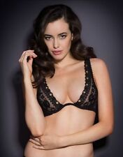 Agent Provocateur STEVIE BRA 36C in BLACK FRENCH LACE & GOLD EYELETS - BNWT