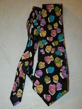 Rare vintage Parquet men's neck tie Conversation Hearts Valentine's Day