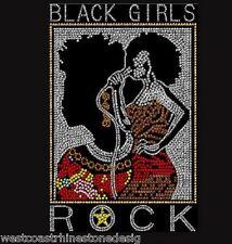 Black Girls Rock Rhinestone Iron on Transfer                IPK6