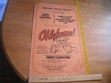Bellville's Dinner Theatre 1970s San Diego Oklahoma! Ernest Sarracino poster
