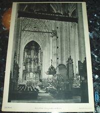 Danzig Gdansk - Marienkirche Innenansicht- großf. Tafel