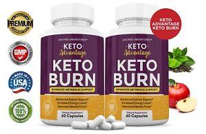 Keto Advantage Keto Burn Pills Weight Loss Advanced Ketosis Supplement 2 Pack
