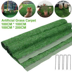 Artificial Turf Carpet Grass Mat Realistic Fake Garden Lawn Balcony Indoor Green