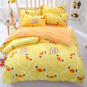 Rubber Duck Cute Cartoon Animal BeddingSet PillowCase Sheet Duvet Cover All Size