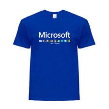 Cool!New Microsoft Windows Icon Evolution Graphic Printed Tee Crew Neck T-shirt