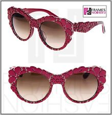 9b6e1280009 Dolce   Gabbana Mamas Brocade Red Brown Mesh Special Fit Sunglasses DG4267F  4267