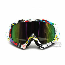 Motorcycle Motocross Dirt Mountain Bike Off Road Goggles Ski Clear Lens Adult