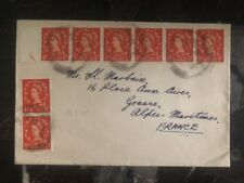 1954 England Airmail Cover To Alpes-Maritimes France