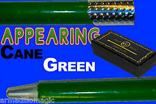 Appearing Cane - Metal - Green - Magic Trick - Professional