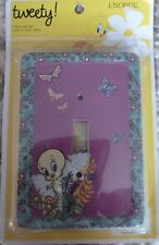 Looney Tunes Tweety Wall Decor Switch Plate Cover 5.25 x 3.75 x .5""
