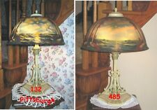 Antique Reverse And Obverse Painted Pittsburgh Lamp - Signed