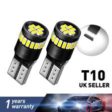 T10 CAR BULBS LED ERROR FREE CANBUS XENON WHITE W5W 501 SIDE LIGHTS BULBS 2PCS