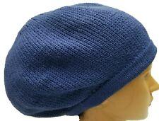 Royal Blue  Beret Tam Hat Rasta Slouch Beanie Cap Dreadlocks Dreads Hair M/L
